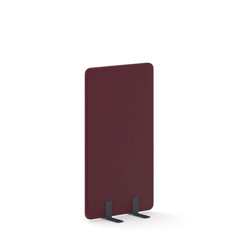 140cm hoge bordeaux rode scheidingswand