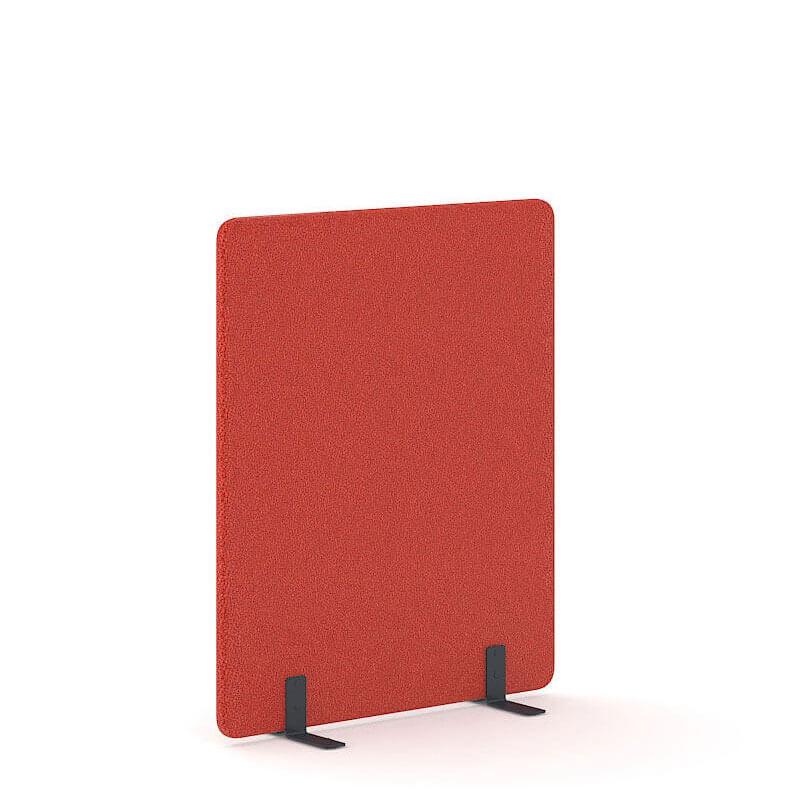 Rode vrijstaande akoestische scheidingswand 1.4m hoog Officetopper