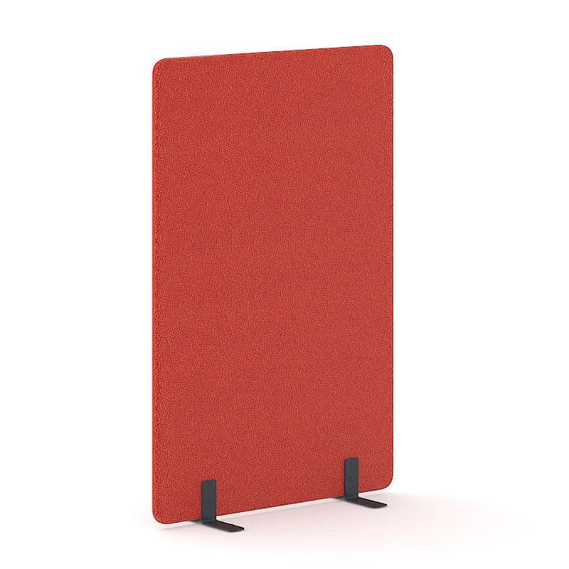 Rode akoestische scheidingswand 180cm hoog Officetopper