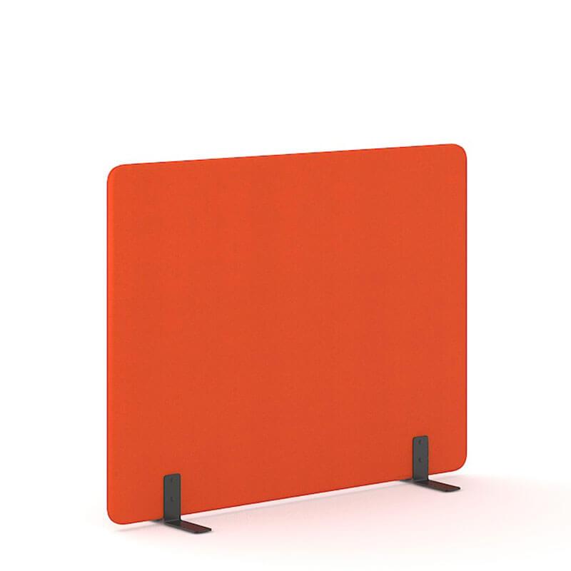 Lichtrode 140cm hoge akoestische scheidingswanden Officetopper