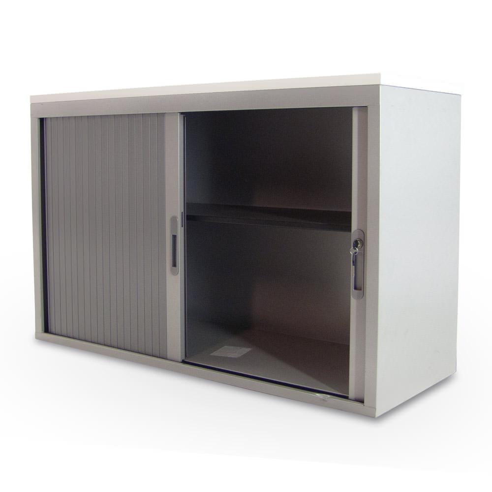 Gebruikte lage aluminium Ecotec roldeurkast Officetopper