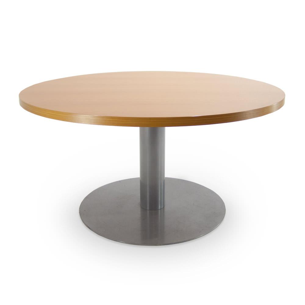 Gebruikte vergadertafel diameter 140cm Officetopper.com