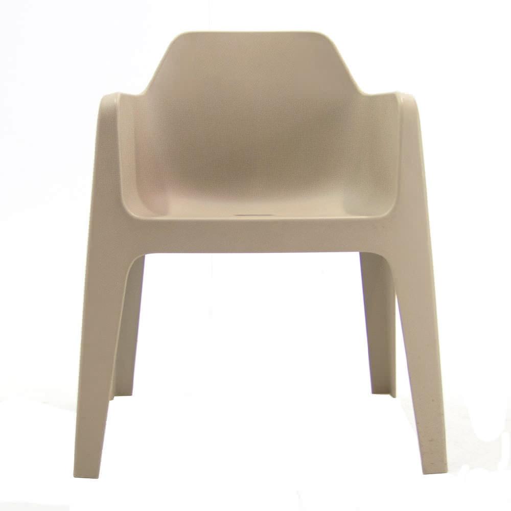 Kunststof zandkleurige stoel Officetopper Pedrali Plus