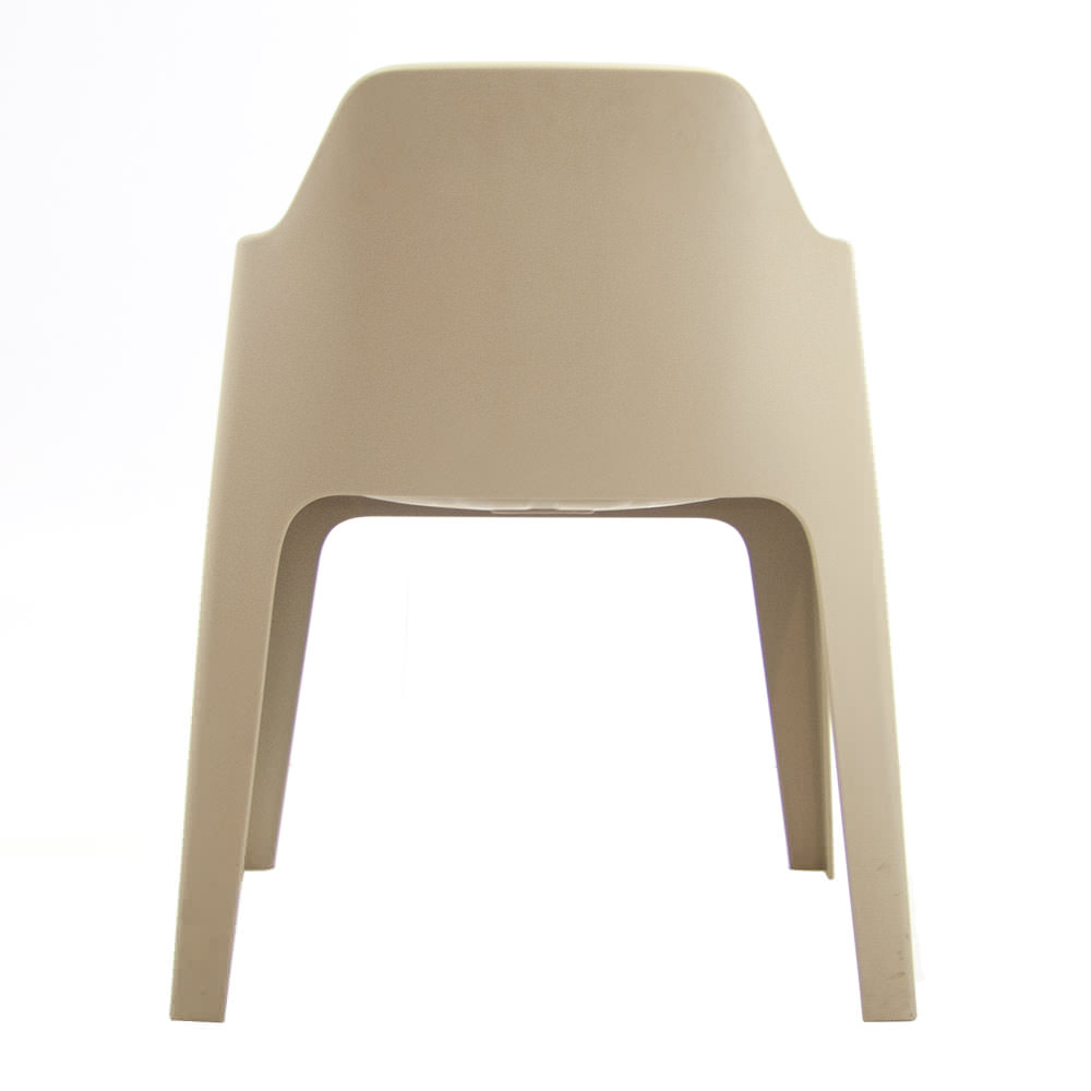 Gebruikte zandkleurige Pedrali Plus kantinestoel Officetopper gebruikt kantoormeubilair