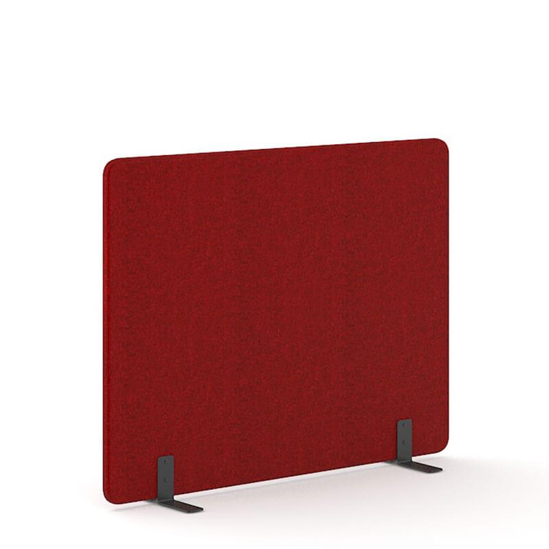 Rode 140cm hoge akoestische scheidingswanden Officetopper