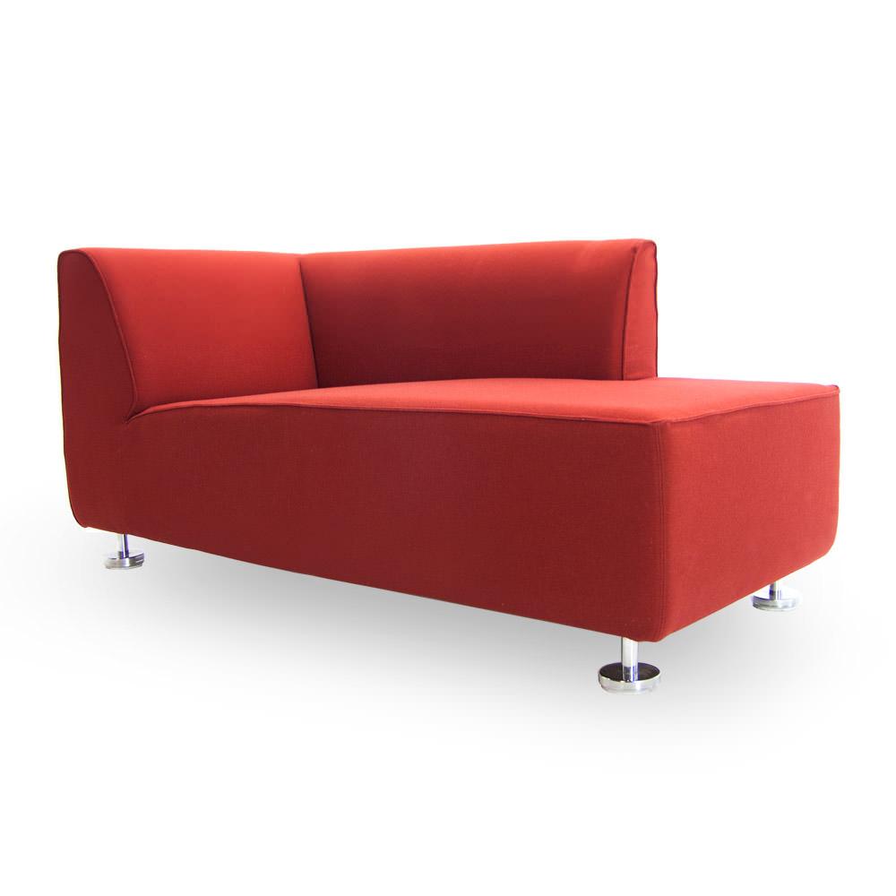 Gebruikte rode Gelderland 4800 CL designbank Officetopper kantoormeubelen