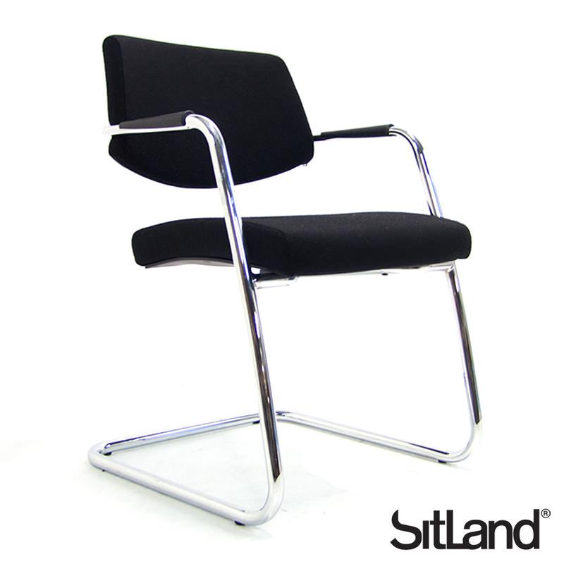 Gebruikte zwarte Sitland conferentiestoel Officetopper tweedehands vergaderstoelen