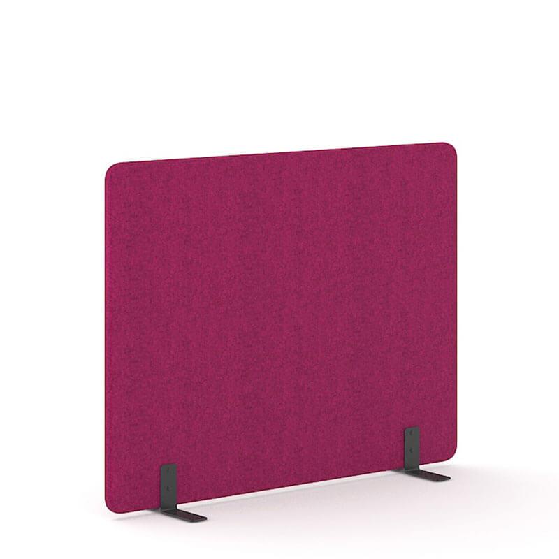 Fuchsia-kleurige 140cm hoge akoestische scheidingswanden Officetopper