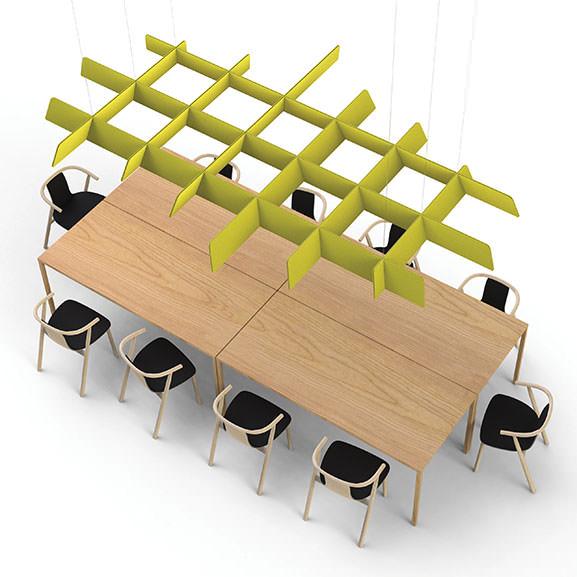 Akoestisch plafondelement BuzziSpace BuzziGrid tweedehands Officetopper Akoestiek