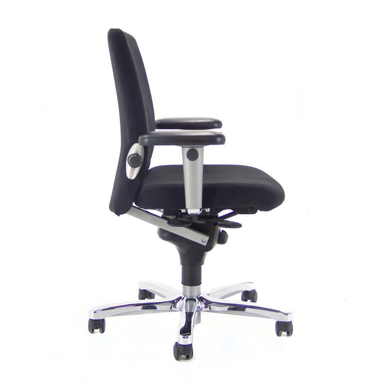 Bureaustoel Met Lendesteun.Tweedehands Zwarte Comforto 77 Bureaustoel