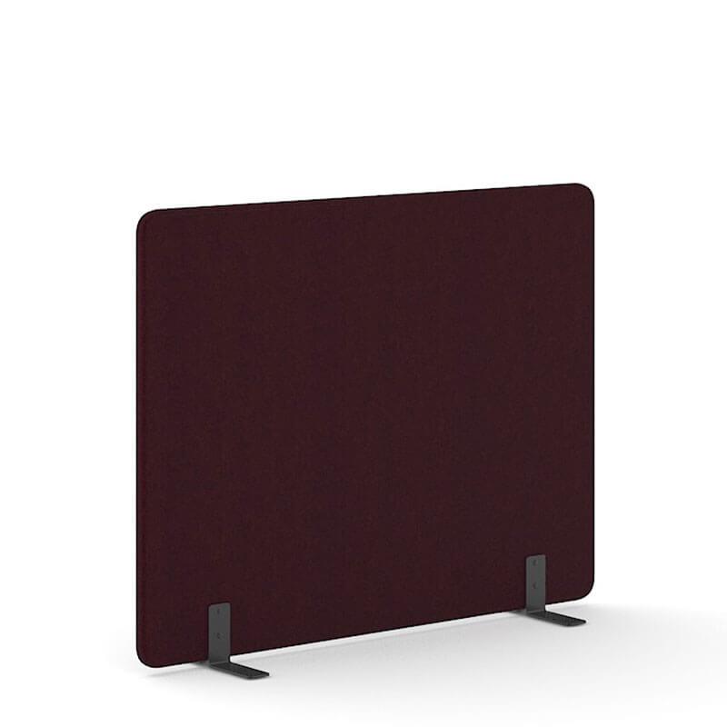 Bordeaux-kleurige 140cm hoge akoestische scheidingswanden Officetopper