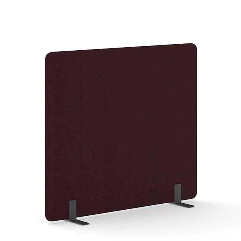 Bordeauxkleurige 160cm hoge staande scheidingswand Officetopper