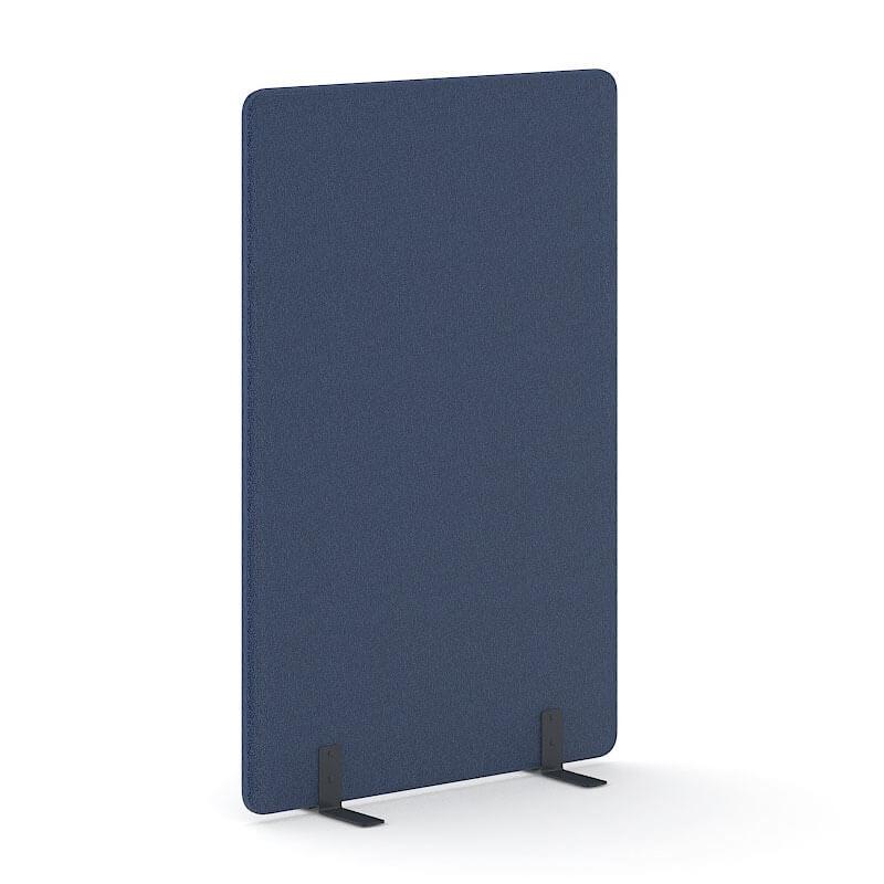 donkerblauwe 180cm hoge akoestische scheidingswand Officetopper