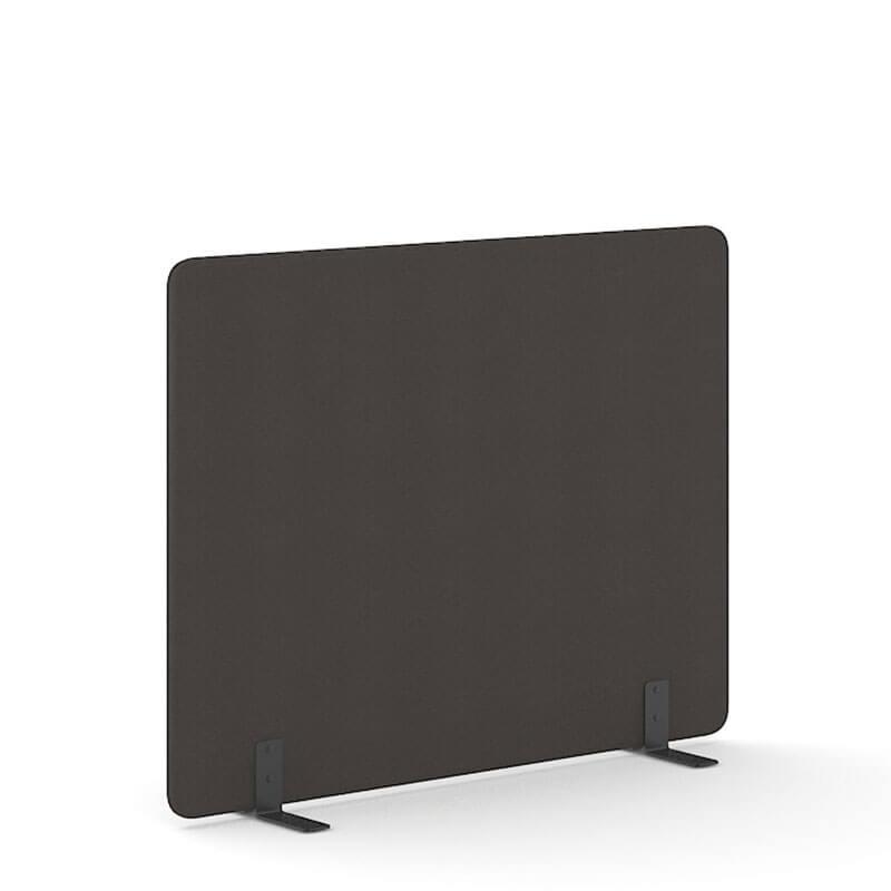 Antraciet-kleurige 140cm hoge akoestische scheidingswanden Officetopper