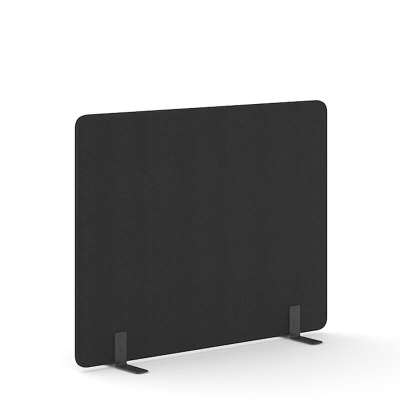 Zwarte 140cm hoge akoestische scheidingswanden Officetopper