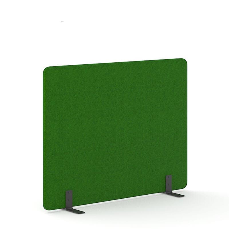 Donkergroene 140cm hoge akoestische scheidingswanden officetopper
