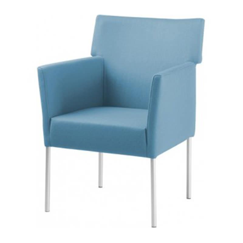 Fauteuil Manou blauw gestoffeerd officetopper