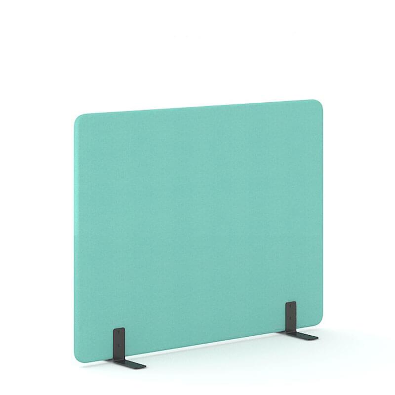 Lichtmintkleurige 140cm hoge akoestische scheidingswanden officetopper