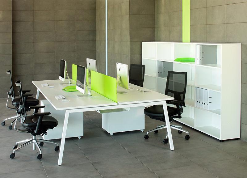 Online 4-desk bench Nova A kopen Officetopper