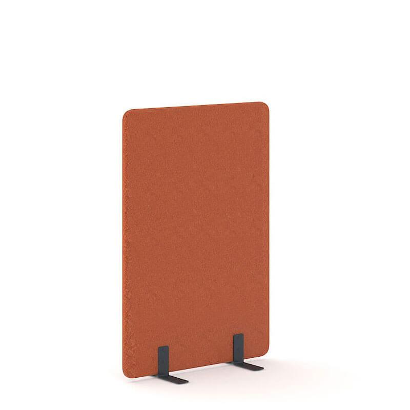 Oranje akoestische staande wand Officetopper