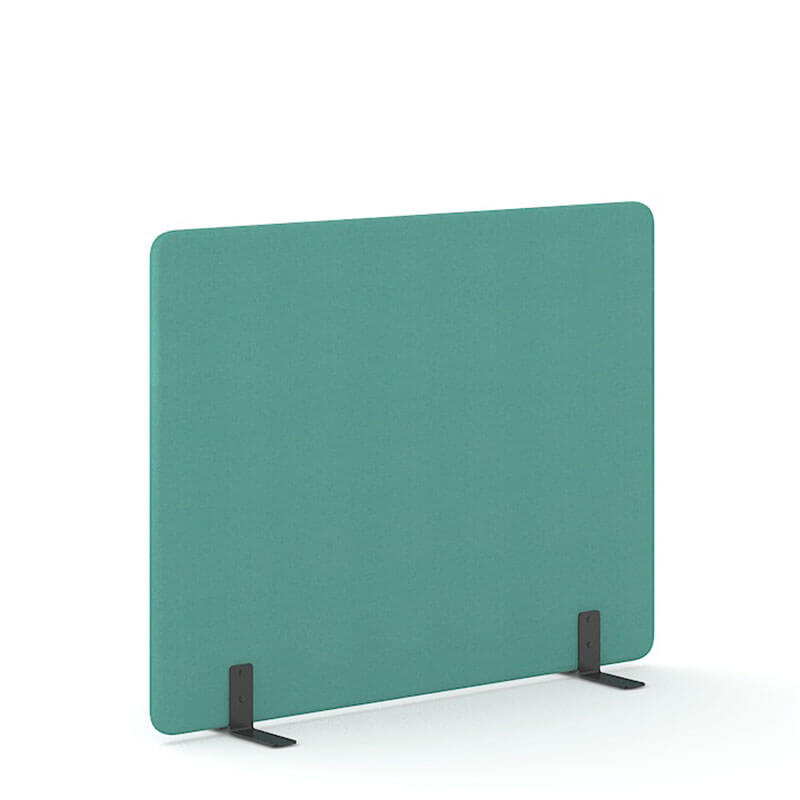 Mint-kleurige 140cm hoge akoestische scheidingswanden officetopper