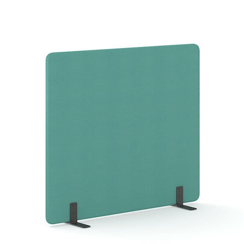 Mintkleurige 160cm hoge staande scheidingswand Officetopper