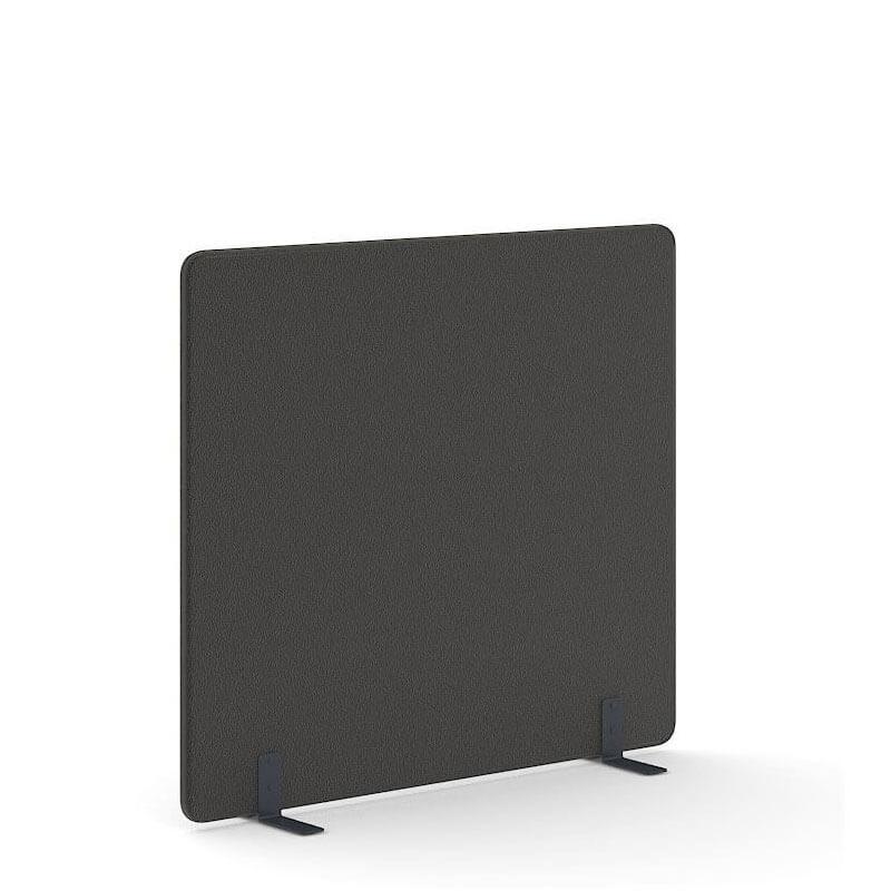 Losstaande zwarte akoestische scheidingswand van 140cm hoog Officetopper