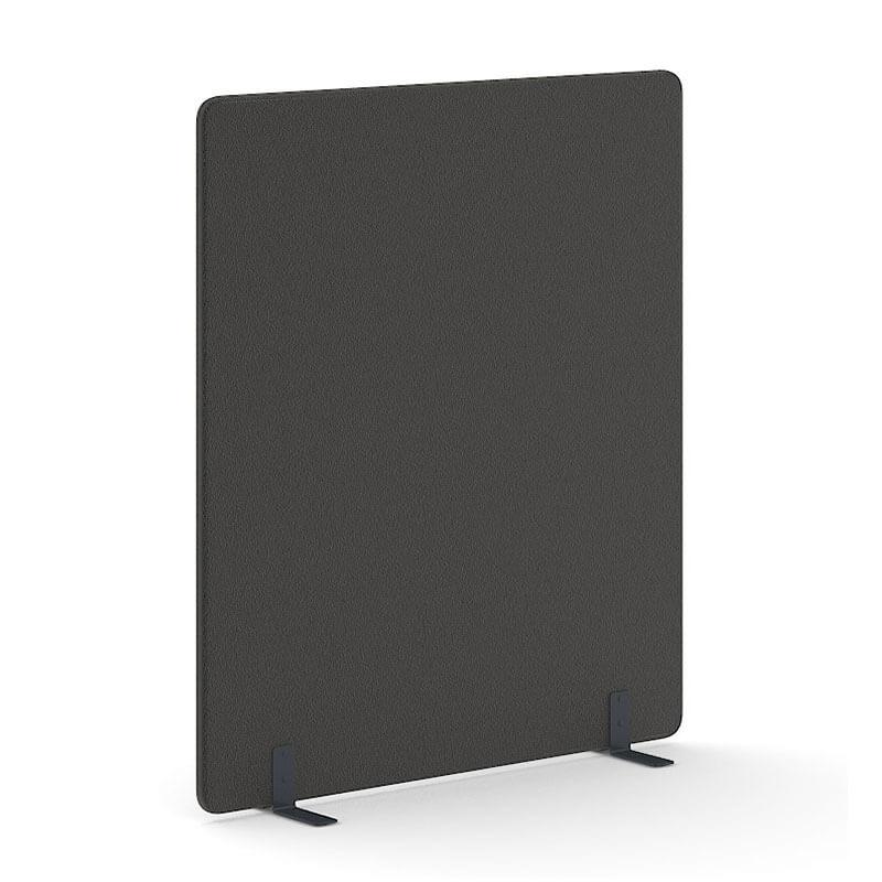 Zwarte 180cm hoge akoestische scheidingswand Officetopper