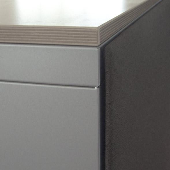 Mibra Boxx met akoestische achterwand Officetopper