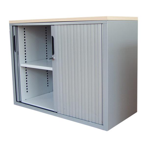 Mibra roldeurkast met ahorn topblad Officetopper tweedehands Mibra kantoorkasten