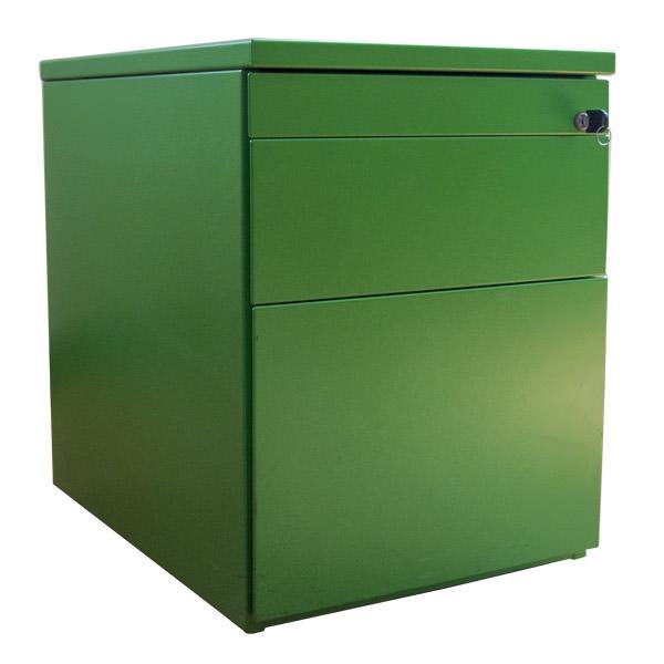 Gebruikt groen ladeblok Officetopper tweedehands ladeblokken