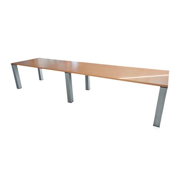 Gebruikte beuken vergadertafel 360x90cm Officetopper tweedehands vergadertafels