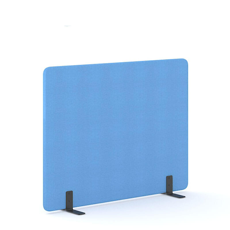 Lichtblauwe 140cm hoge akoestische scheidingswanden officetopper