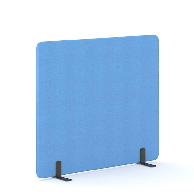 Lichtblauwe 160cm hoge staande scheidingswand Officetopper