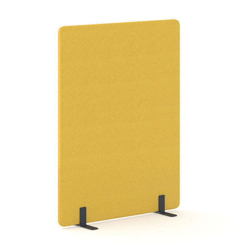 Gele staande akoestische scheidingswanden Officetopper