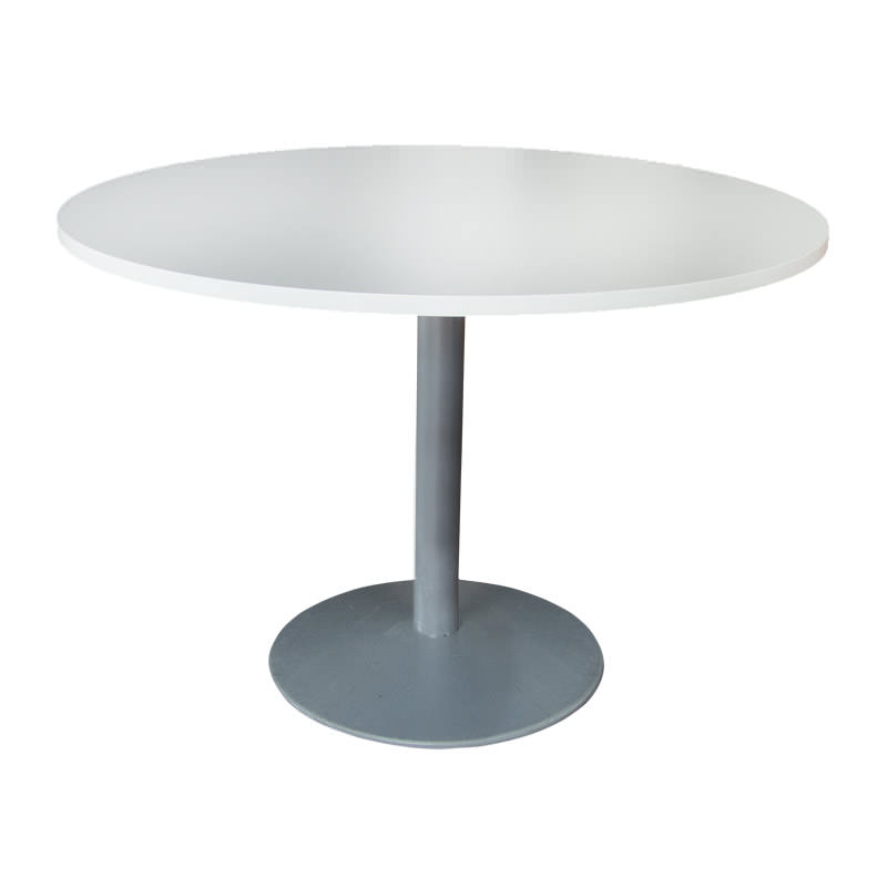 Gebruikte vergadertafel met wit blad Officetopper tweedehands vergadertafels