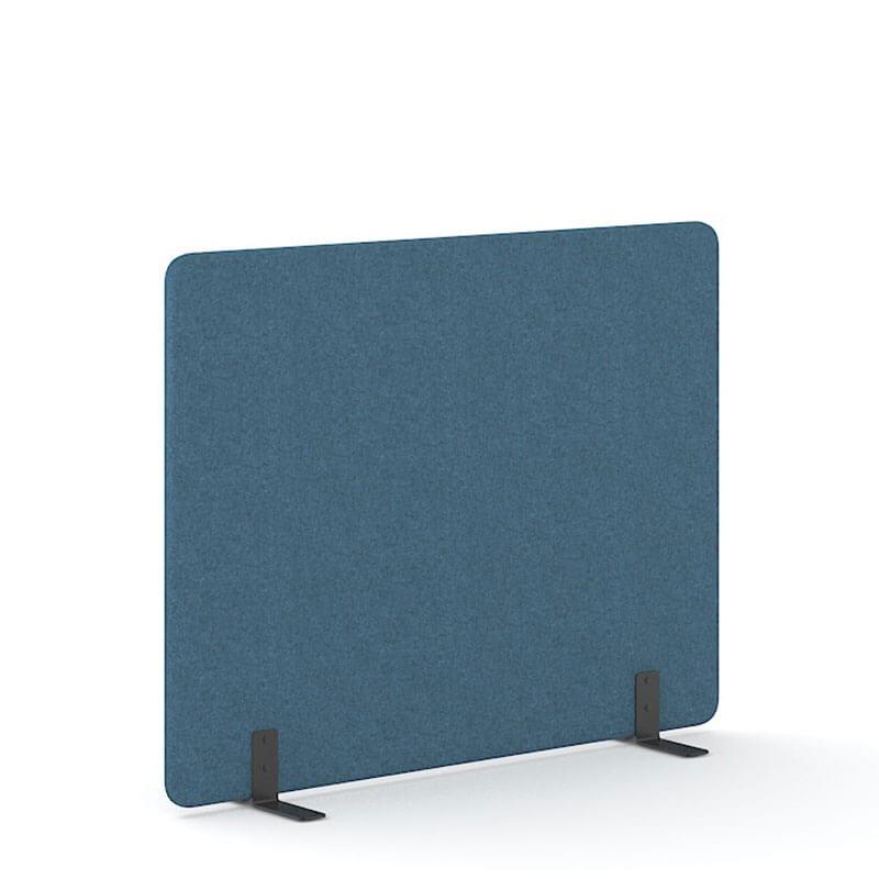 Blauwe 140cm hoge akoestische scheidingswanden officetopper