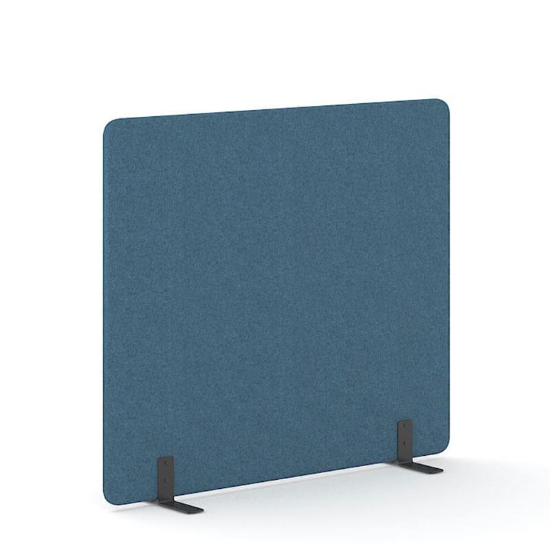 Blauwe 160cm hoge staande scheidingswand Officetopper
