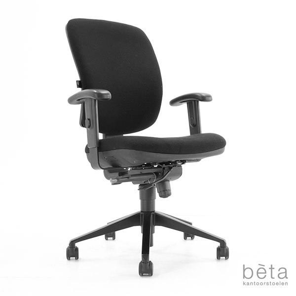 Gebruikte bureaustoel zwart gestoffeerd Bèta Aaalsmeer