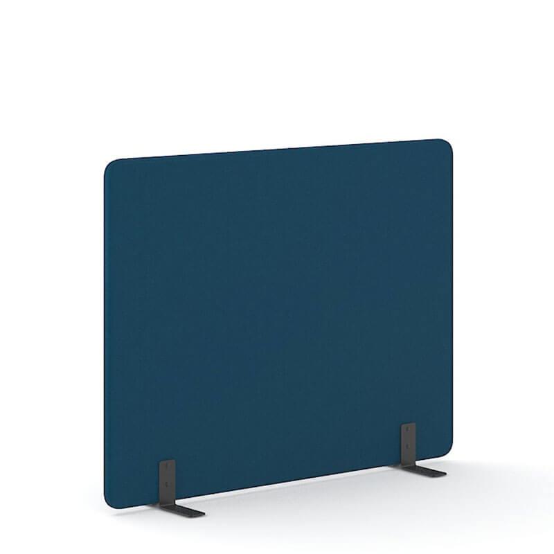 Donkerblauwe 140cm hoge akoestische scheidingswanden officetopper