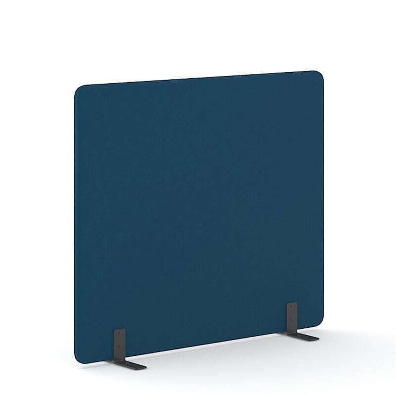 Donkerblauwe 160cm hoge staande scheidingswand Officetopper