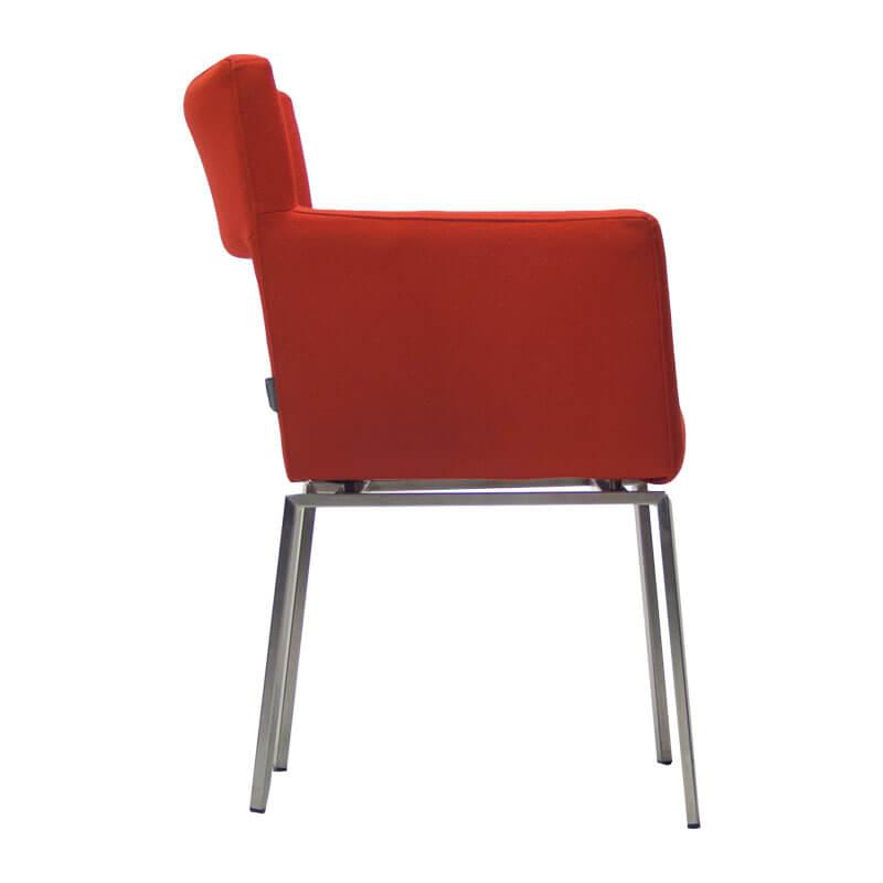 86004-Gebruikte-fauteuil-Foucault-FLoor-rood