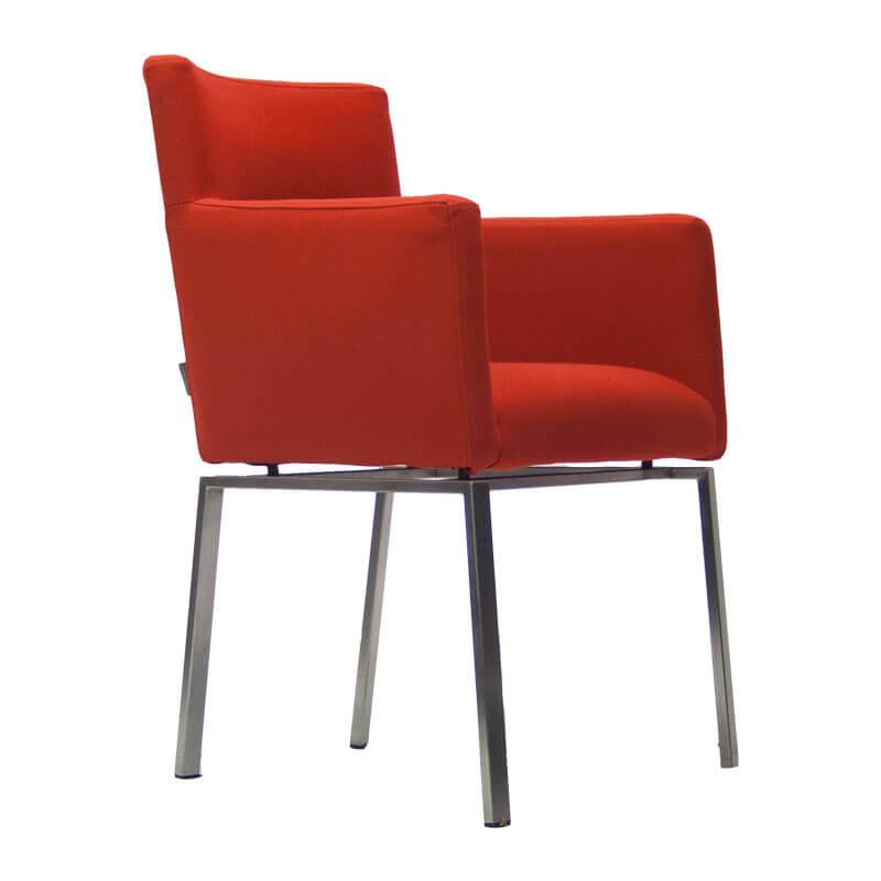 86004-Gebruikte-Foucault-floor-fauteuilt-rood