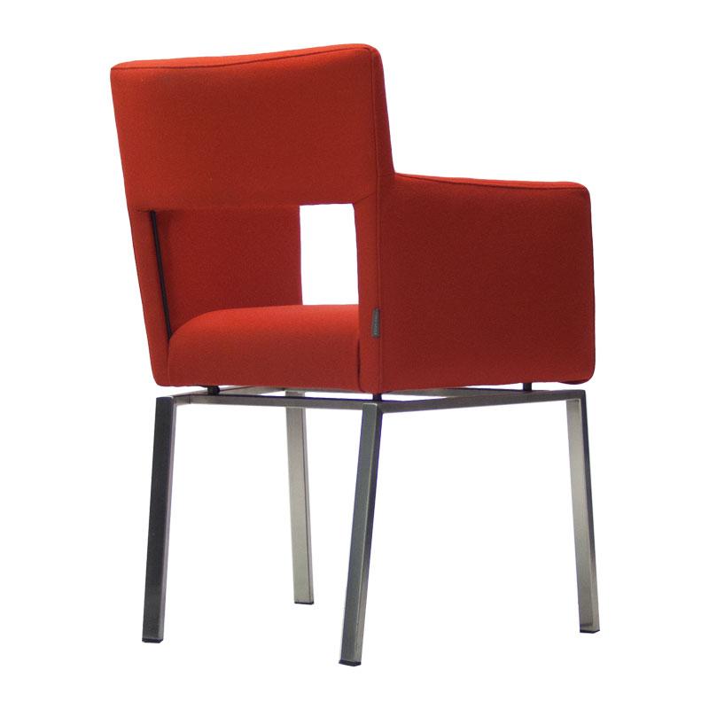 86004-Tweedehands-fauteuil-rood