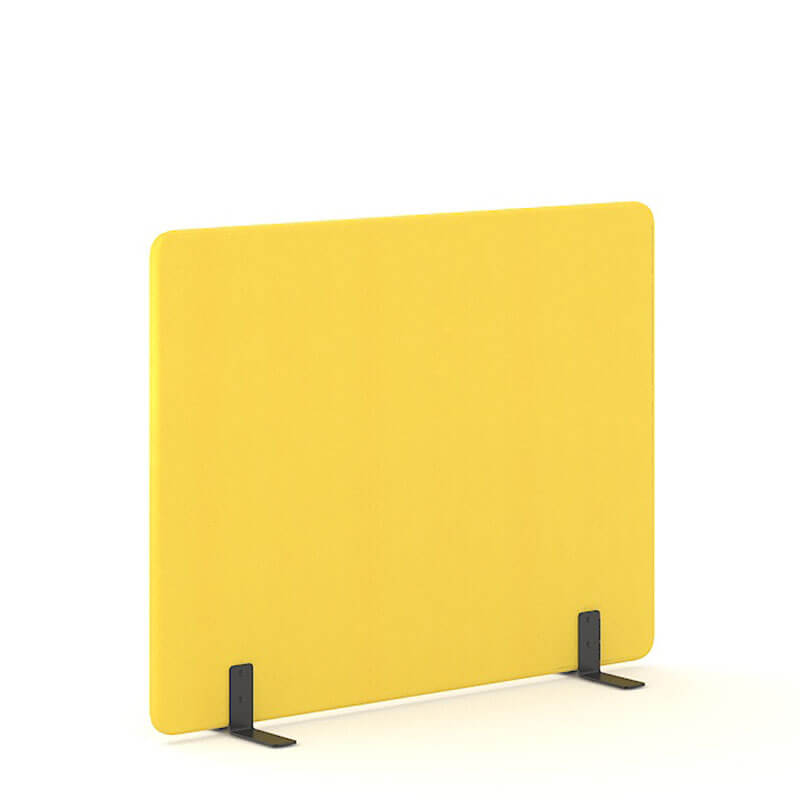 Gele 140cm hoge akoestische scheidingswanden officetopper