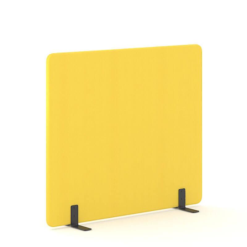 Gele 160cm hoge staande scheidingswand Officetopper