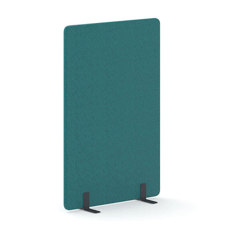 Turquoise akoestische scheidingswand 180cm hoog Officetopper