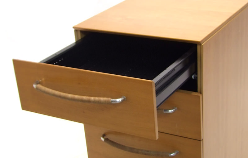 Gebruikt staand ladeblok kersen Officetopper tweedehands ladeblokken