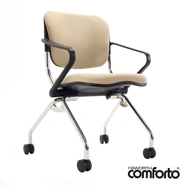 Gebruikte Beige verrijdbare conferentiestoel Comforto x99 Officetopper