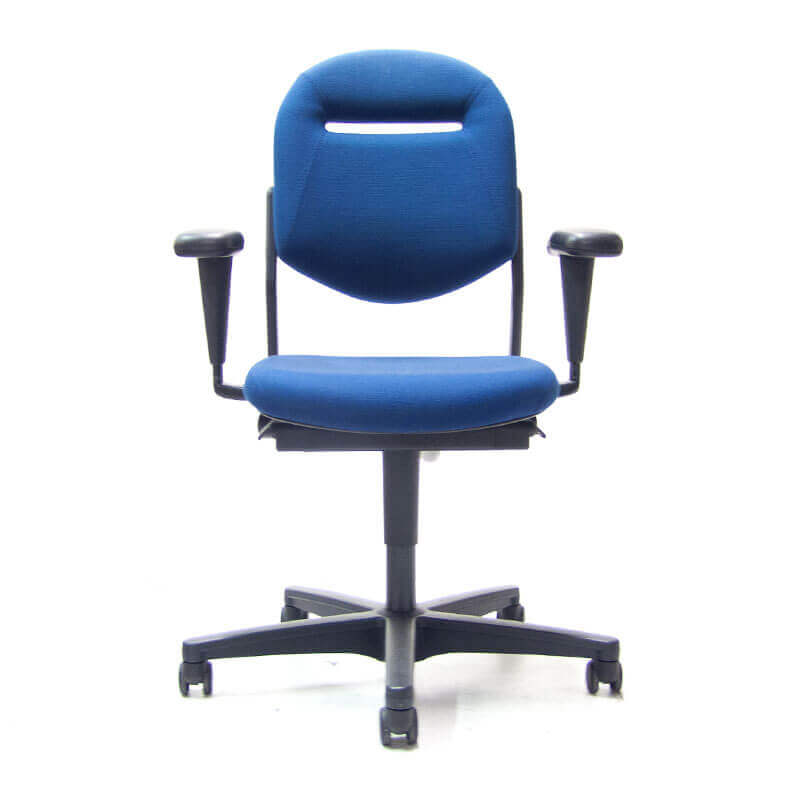 Ahrend 220 bureaustoel met blauwe stoffering